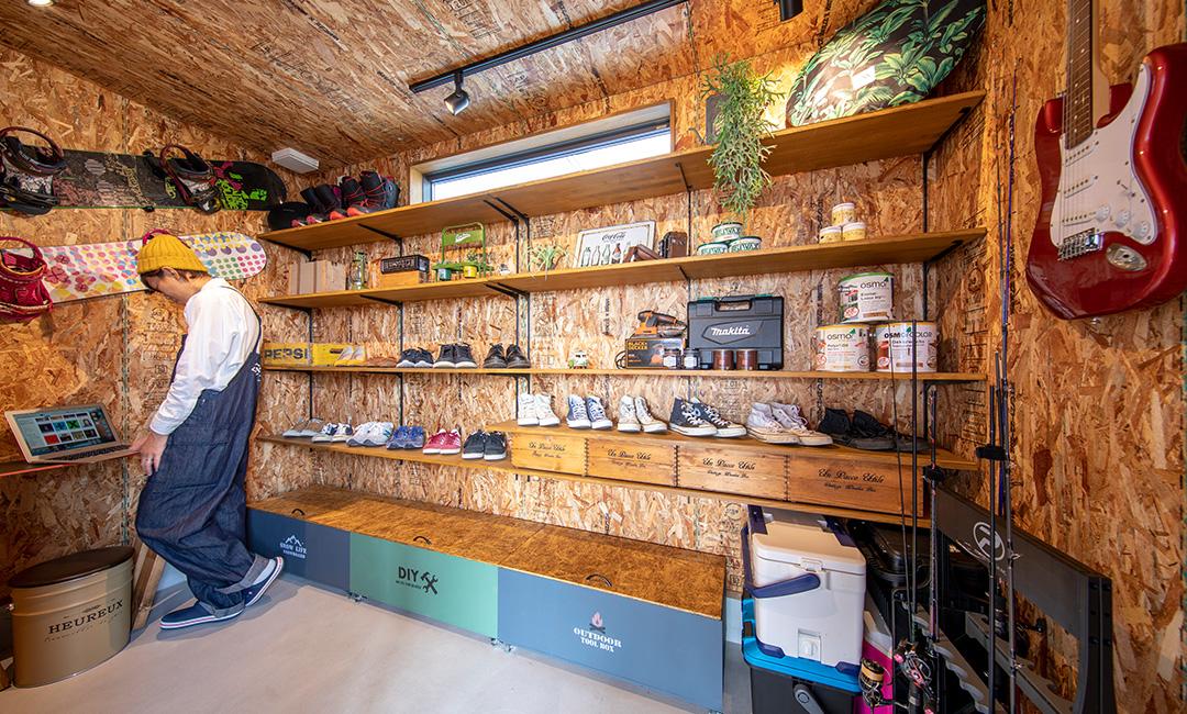 DIYも趣味も一緒に楽しむ広々平屋の家