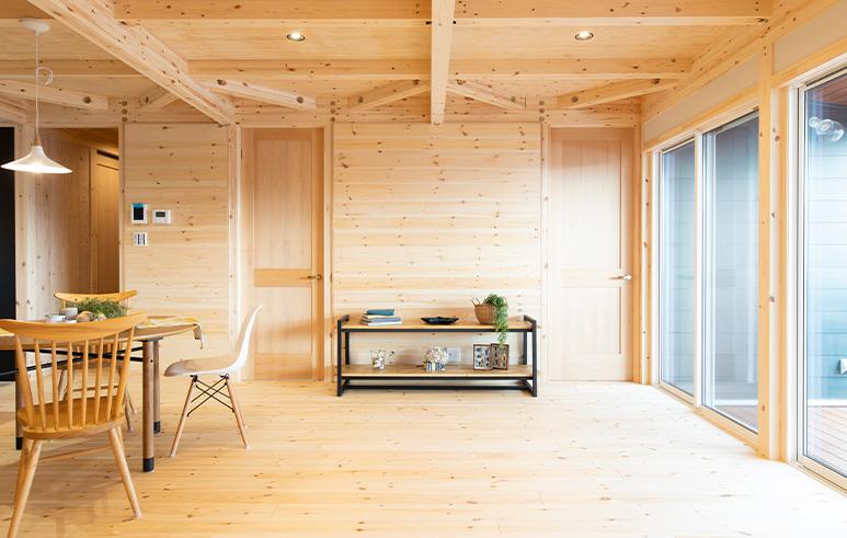 広々土間スペースがある開放感を感じられる平屋4